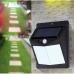 Светодиодный Фонарь на солнечной батарее Solar Powered 40 LED с датчиком движения, черный