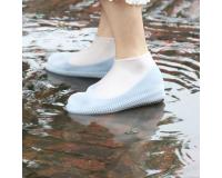 Водонепроницаемые силиконовые бахилы для обуви, размер L (42-45) белые