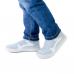 Защитные многоразовые водонепроницаемые силиконовые бахилы для обуви, размер M (37-41) белые