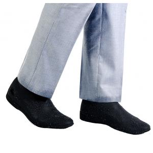 Защитные многоразовые водонепроницаемые силиконовые бахилы для обуви, размер S (32-36) черные
