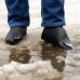 Защитные многоразовые водонепроницаемые силиконовые бахилы для обуви, размер M (37-41) черные