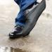 Защитные многоразовые водонепроницаемые силиконовые бахилы для обуви, размер L (42-45) черные