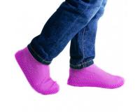 Водонепроницаемые силиконовые бахилы для обуви, размер L (42-45) розовые