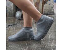 Водонепроницаемые силиконовые бахилы для обуви, размер L (42-45) серые