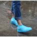 Защитные многоразовые водонепроницаемые силиконовые бахилы для обуви, размер M (37-41) желтые