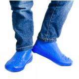 Водонепроницаемые силиконовые бахилы для обуви, размер L (42-45) синие