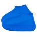Защитные многоразовые водонепроницаемые силиконовые бахилы для обуви, размер S (32-36) синие