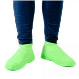 Водонепроницаемые силиконовые бахилы для обуви, размер L (42-45) зеленые