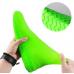 Защитные многоразовые водонепроницаемые силиконовые бахилы для обуви, размер L (42-45) зеленые