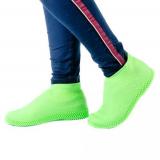 Водонепроницаемые силиконовые бахилы для обуви, размер M (37-41) зеленые