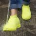 Защитные многоразовые водонепроницаемые силиконовые бахилы для обуви, размер S (32-36) желтые