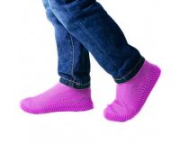 Водонепроницаемые силиконовые бахилы для обуви, размер M (37-41) розовые