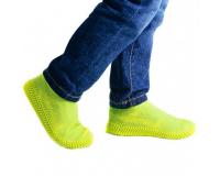 Водонепроницаемые силиконовые бахилы для обуви, размер M (37-41) желтые