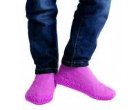 Водонепроницаемые силиконовые бахилы для обуви, размер S (32-36) розовые