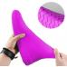 Защитные многоразовые водонепроницаемые силиконовые бахилы для обуви, размер S (32-36) розовые