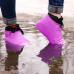 Защитные многоразовые водонепроницаемые силиконовые бахилы для обуви, размер M (37-41) розовые
