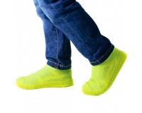 Водонепроницаемые силиконовые бахилы для обуви, размер S (32-36) желтые
