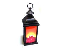 Светодиодный светильник фонарь с имитацией пламени, 37х14х14 см