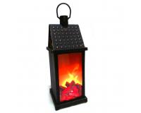 Светодиодный светильник фонарь с имитацией пламени, 38х13х13 см