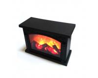 Светодиодный светильник камин с имитацией пламени, 28х20х12 см