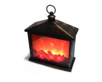 Светодиодный светильник камин с имитацией пламени, 38х30х17 см