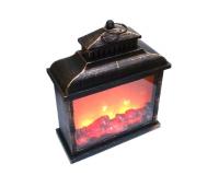 Светодиодный светильник камин с имитацией пламени, 40х30х13 см