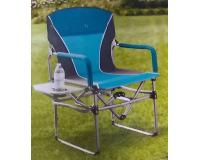 Кресло складное туристическое со столиком Director's Chair, синий