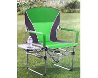Кресло складное туристическое со столиком Director's Chair, зеленый