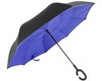 """Зонт наоборот (зонт обратного сложения) """"Фиолетовый"""""""