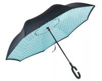 """Зонт наоборот (зонт обратного сложения) """"Горошек"""""""
