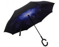 """Зонт наоборот (зонт обратного сложения) """"Ночное небо"""""""