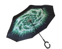 """Зонт наоборот (зонт обратного сложения) """"Огонь"""""""