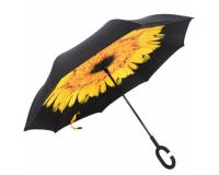 """Зонт наоборот (зонт обратного сложения) """"Подсолнух"""""""