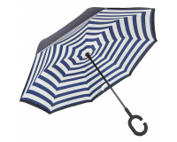 """Зонт наоборот (зонт обратного сложения) """"Полосатый"""""""