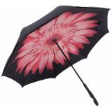 """Зонт наоборот (зонт обратного сложения) """"Розовый цветок"""""""