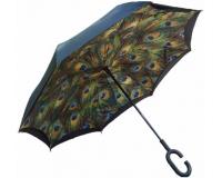 """Зонт наоборот (зонт обратного сложения) """"Перо Жар-Птицы"""""""