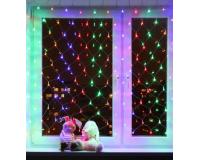 Гирлянда сетка на окно светодиодная 1.5х1.5 метра