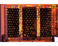 Гирлянда сетка на окно светодиодная 3.0 х 2.0 метра