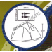 Палатка туристическая 2 местная KUMYANG 1905 с тамбуом