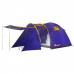 Палатка 4-х местная туристическая с козырьком и тамбуром (410х210х175 см), 2 входа LANYU LY-1605