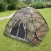 Палатка-автомат трехместная туристическая камуфляжная, 2,0х2,0x1,35 м
