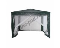 Тент шатер садовый с москитной сеткой 3x3м, полиэстер, зеленый