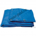 Универсальный водонепроницаемый полипропиленовый тент, размер 5х8 м, люверсы, синий