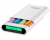 TOMO V8-4 Универсальный внешний аккумулятор 4x18650. Белый.
