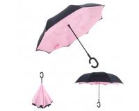 """Зонт наоборот (зонт обратного сложения) """"Розовый"""""""