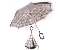 """Зонт наоборот (зонт обратного сложения) """"Английская Классика"""""""