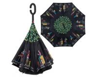"""Зонт наоборот (зонт обратного сложения) """"Путешествие"""""""