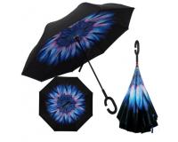 """Зонт наоборот (зонт обратного сложения) """"Ромашка под дождем"""""""