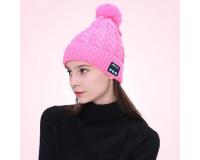 Шапка со встроенной bluetooth гарнитурой цвет:Розовый