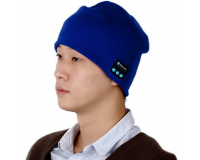 Шапка со встроенной bluetooth гарнитурой цвет: Темно-синий